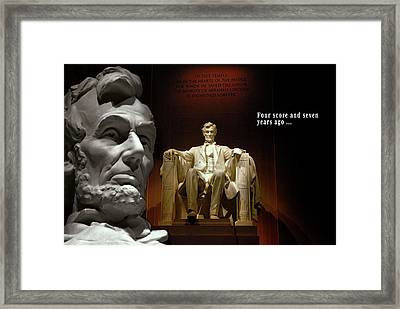 Four Score And Seven Years Ago . . . Framed Print by Daniel Hagerman