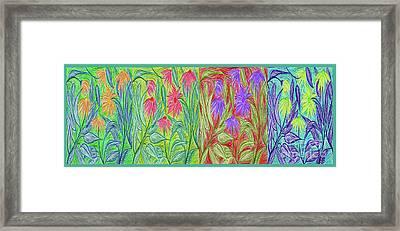 Four Seasons Coneflower Garden Pop By Jrr Framed Print by First Star Art