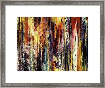 Four Seasons In One Forest Abstract Framed Print