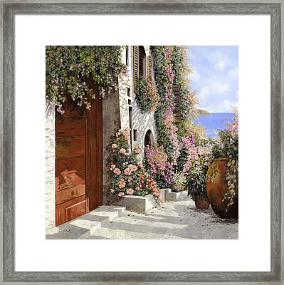 four seasons- spring in Tuscany Framed Print by Guido Borelli