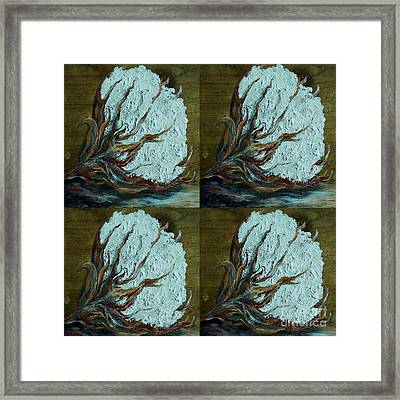 Four Square Cotton Framed Print by Eloise Schneider