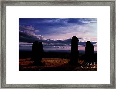 Four Stones Clent Hills Framed Print