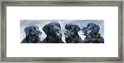 Four Times The Fun Framed Print by Cheryl Butler