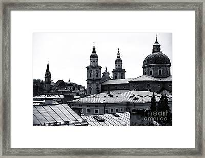 Four Towers In Salzburg Framed Print by John Rizzuto