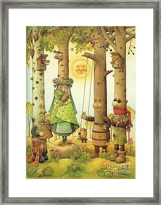 Four Trees Framed Print by Kestutis Kasparavicius