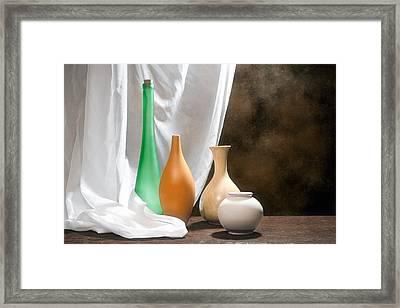 Four Vases I Framed Print by Tom Mc Nemar