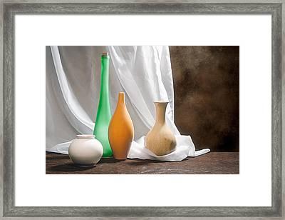 Four Vases II Framed Print by Tom Mc Nemar