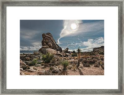 Four Way Clouds Framed Print by Gary Zuercher