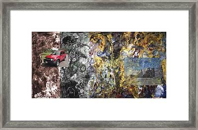 Four Wheel Driving Through Time Framed Print