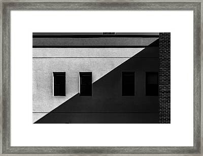 Framed Print featuring the photograph Four Windows by Bob Orsillo