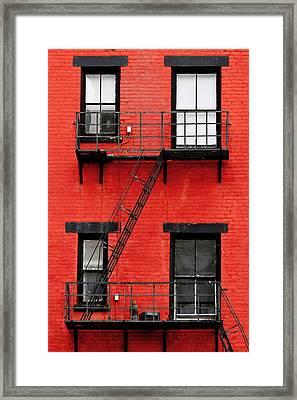 Four Windows Framed Print