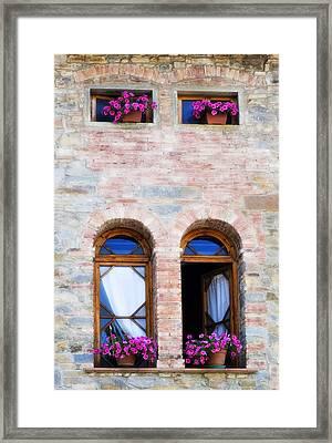 Four Windows Framed Print by Marilyn Hunt