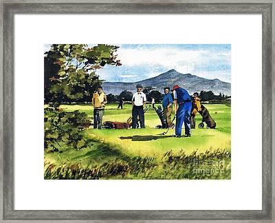 Fourball In Bray Framed Print