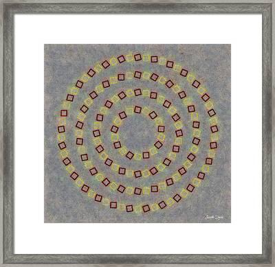 Fourcircles - Da Framed Print by Leonardo Digenio