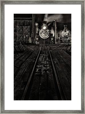 Framed Print featuring the photograph Foureightytwo B And W Version by Jeffrey Jensen