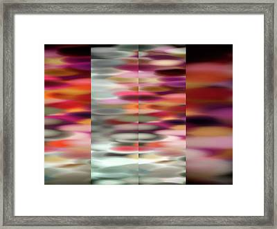 Fourfold Framed Print by Tom Druin