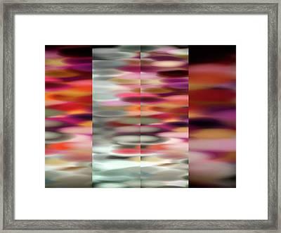 Fourfold Framed Print by Tom Druin
