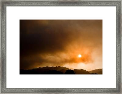 Fourmile Canyon Fire Sunset Boulder County Colorado Framed Print by James BO  Insogna