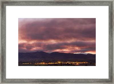 Fourmile Canyon Labor Day Boulder County Wildfire Smoke North Sky Panorama Framed Print by James BO  Insogna