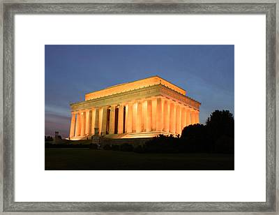 Fourscore And Seven Years Ago Framed Print