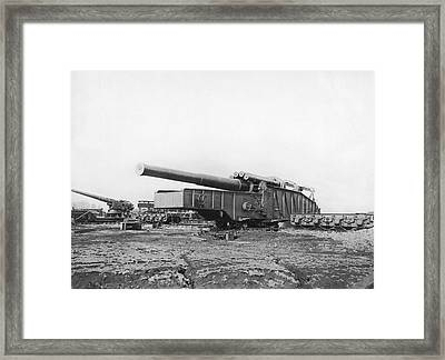 Fourteen Inch Gun Framed Print by Underwood Archives