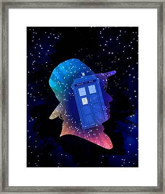 Doctor Who Inspired Fourth Doctor Silhouette  Framed Print