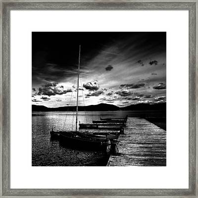 Fourth Lake Sunset Framed Print by David Patterson