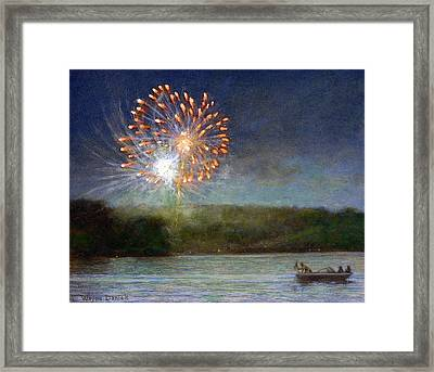 Fourth Of July- Cazenovia Lake Framed Print