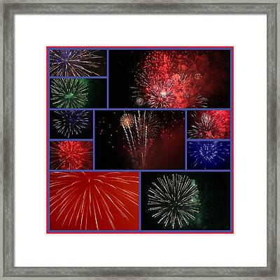 Fourth Of July Collage Framed Print