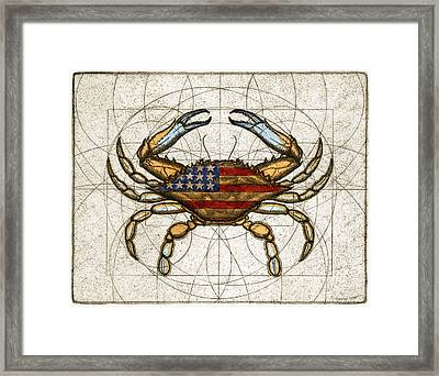 Fourth Of July Crab Framed Print