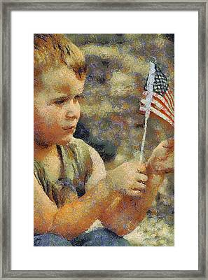Fourth Of July Framed Print by Elaine Frink