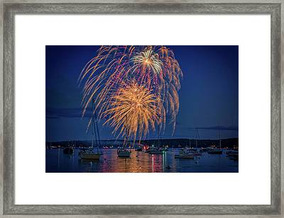 Fourth Of July In Boothbay Harbor Framed Print