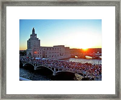 Fourth Of July In Cedar Rapids Ia 2005 Framed Print by Jenness Asby