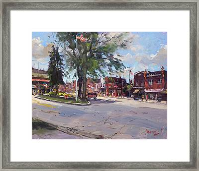 Fourth Of July In North Tonawanda Framed Print