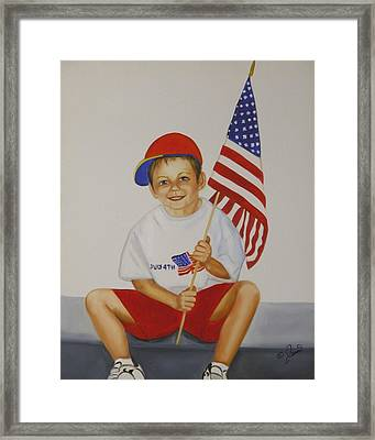 Fourth Of July Framed Print by Joni McPherson