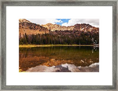 Fourth Of July Lake In White Clouds Wilderness In Idaho Framed Print
