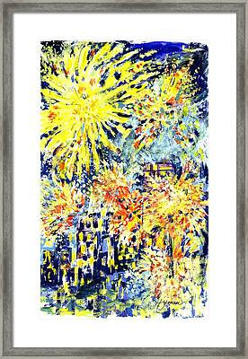 Fourth Of July Framed Print by Lily Hymen