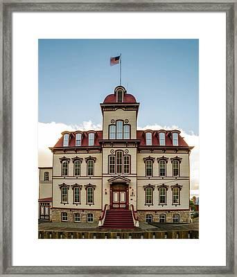 Fourth Ward School - 2 Virginia City Nevada Framed Print