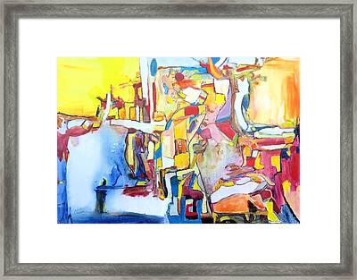 Fourth World Ladders Framed Print