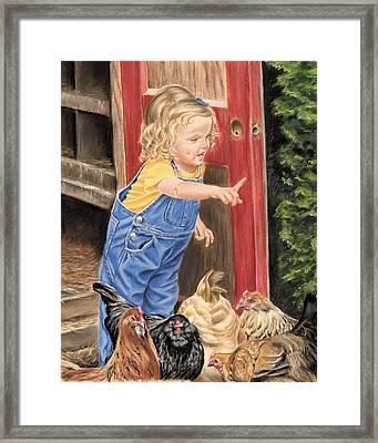 Fowl Play Framed Print by Vanda Luddy
