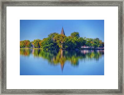 Fowler Lake Reflection  - Oconomowoc, Wi Framed Print
