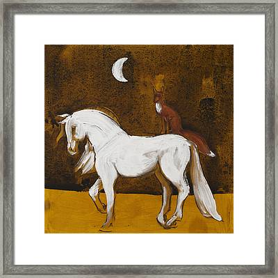 Fox And Horse Framed Print by Sophy White