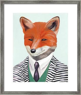 fox Framed Print by Animal Crew