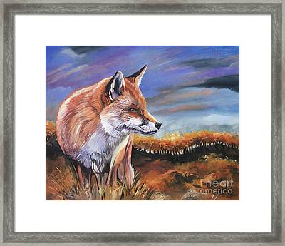 Fox Fall Framed Print by J W Baker