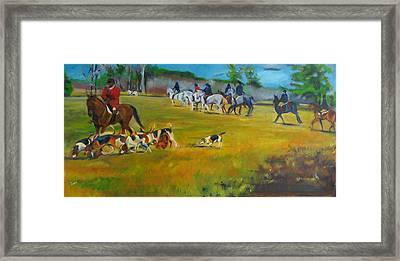 Fox Hunt Framed Print by Kaytee Esser
