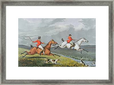 Fox Hunting - Full Cry Framed Print by Charles Bentley