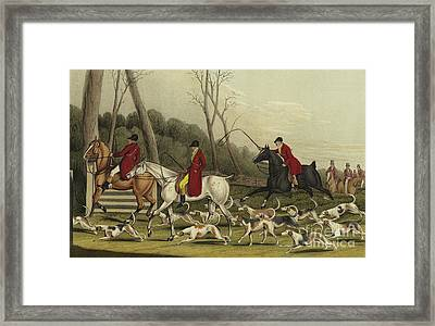 Fox Hunting Going Into Cover Framed Print