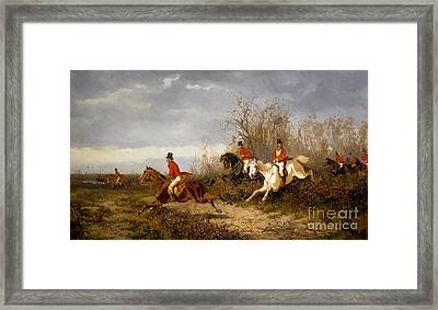 Fox Hunting Scene Framed Print