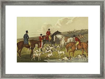 Fox Hunting, The Death Framed Print