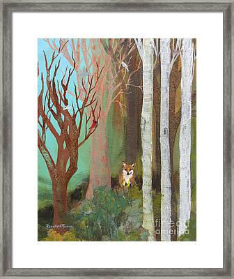 Fox In The Forest  Framed Print